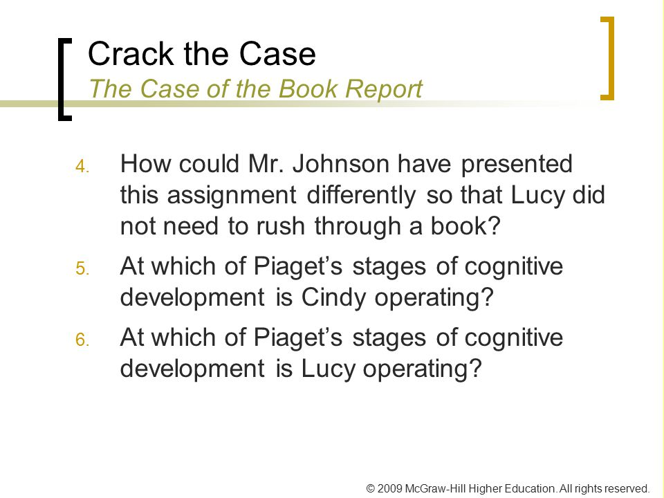 Crack the Case The Case of the Book Report