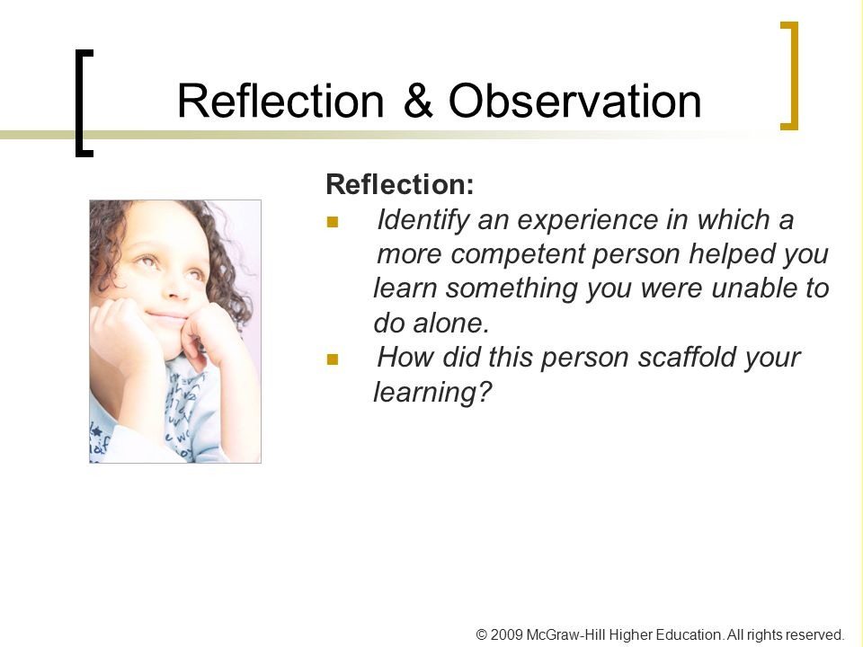 Reflection & Observation