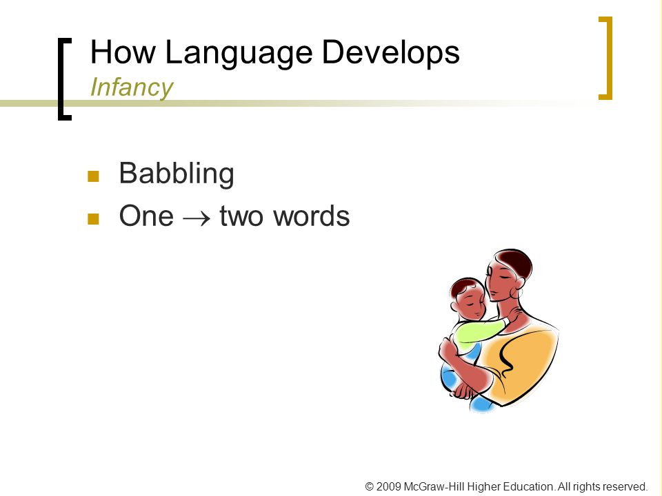 How Language Develops Infancy