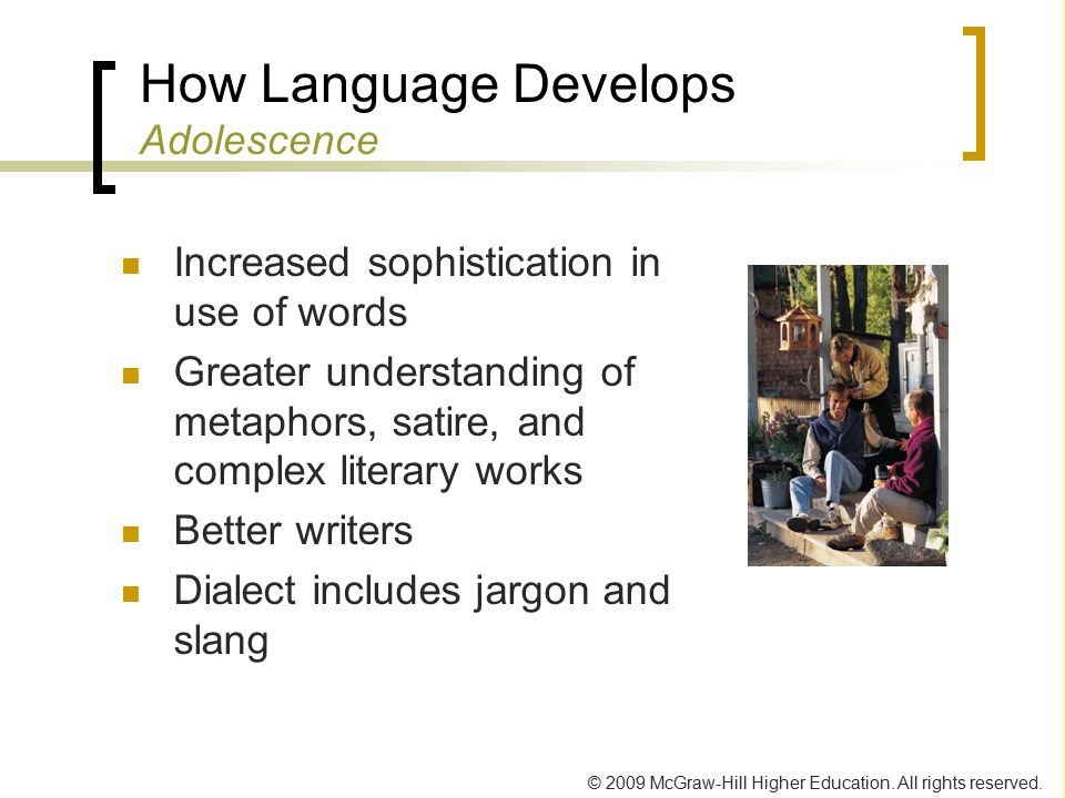 How Language Develops Adolescence
