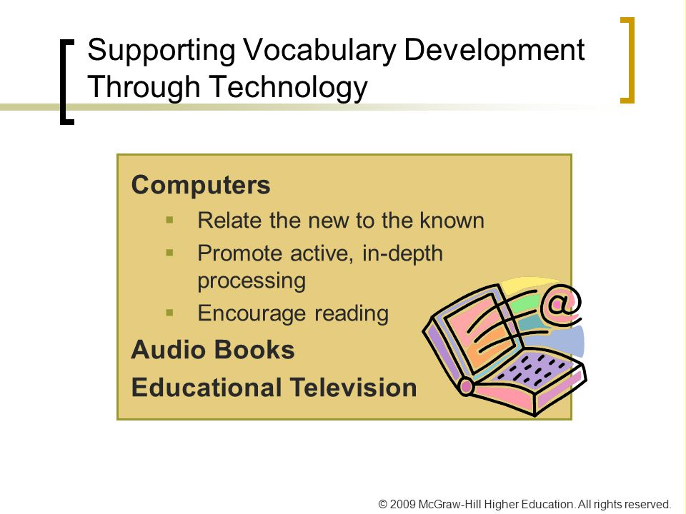 Supporting Vocabulary Development Through Technology