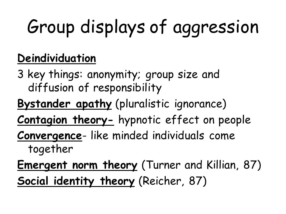 Group displays of aggression