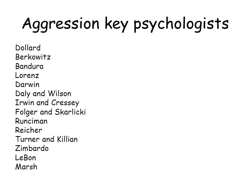 Aggression key psychologists