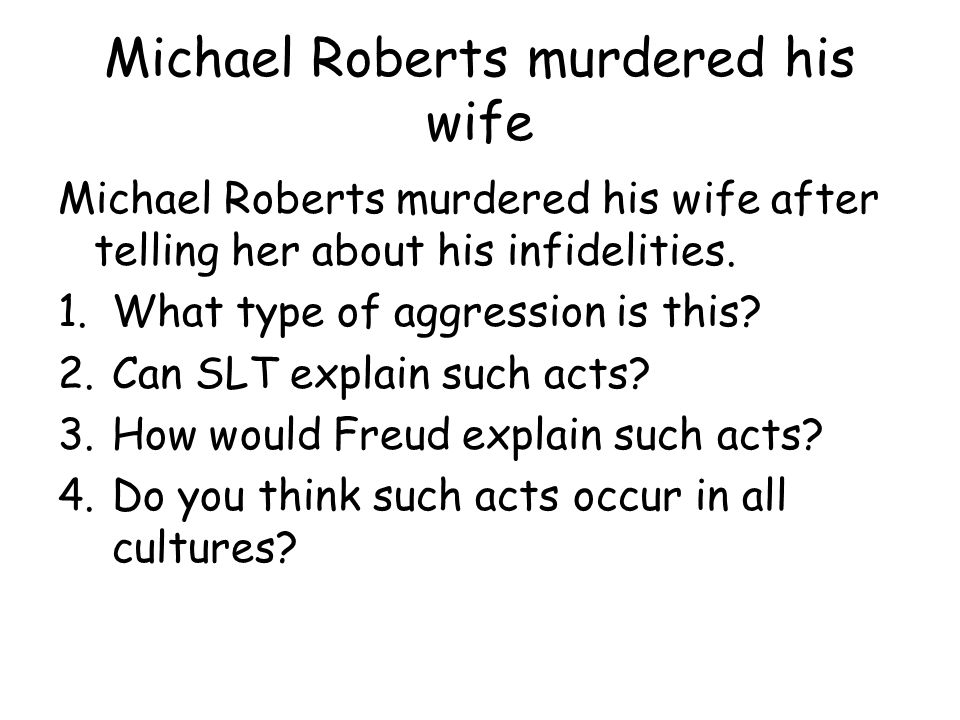 Michael Roberts murdered his wife