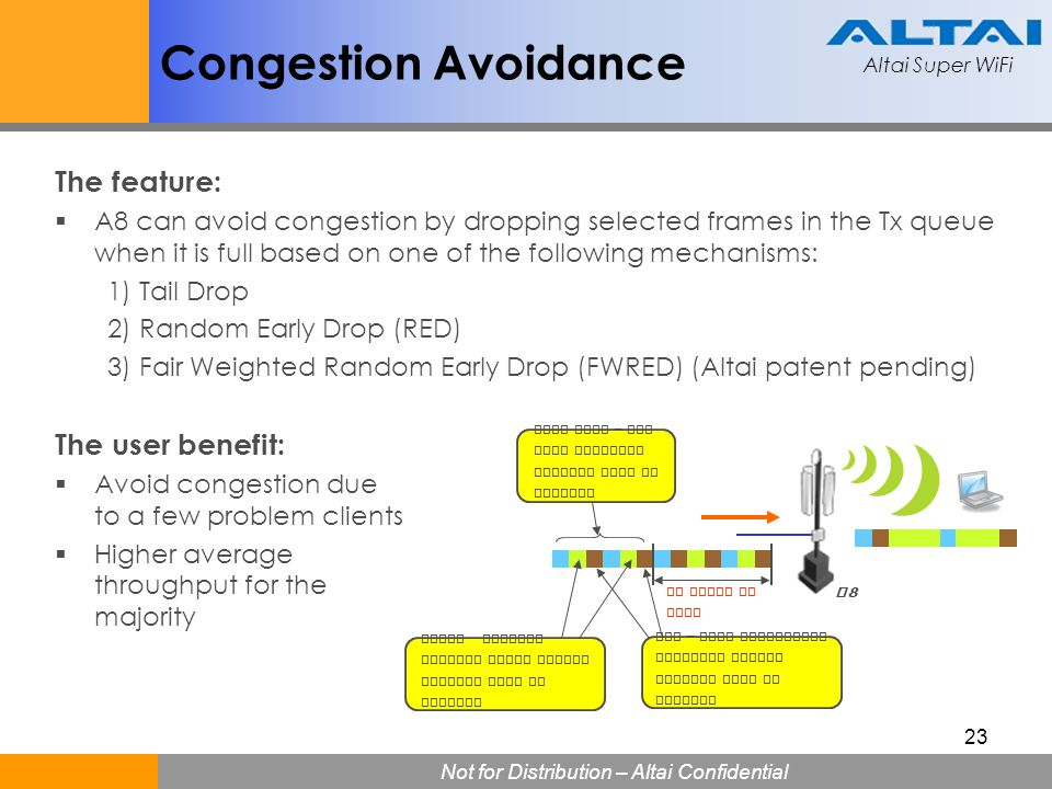 Congestion Avoidance The feature: The user benefit: