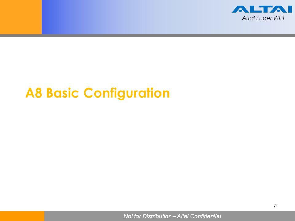 A8 Basic Configuration