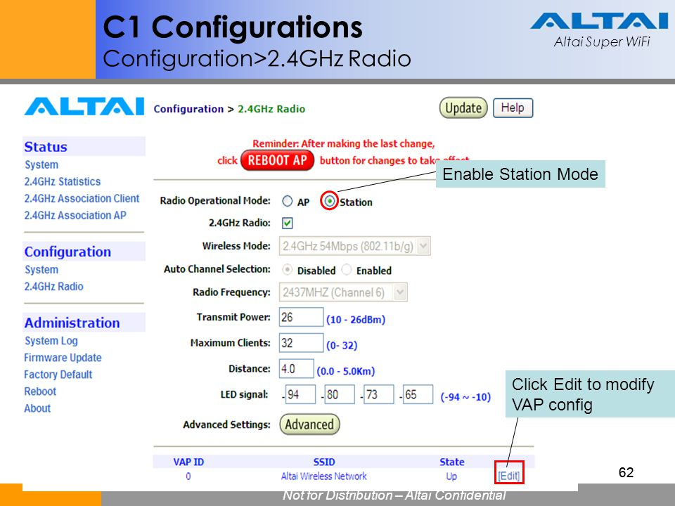 C1 Configurations Configuration>2.4GHz Radio