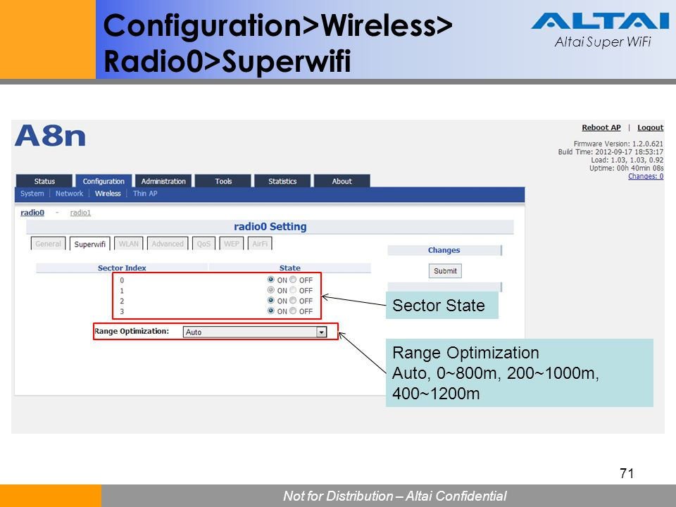 Configuration>Wireless> Radio0>Superwifi