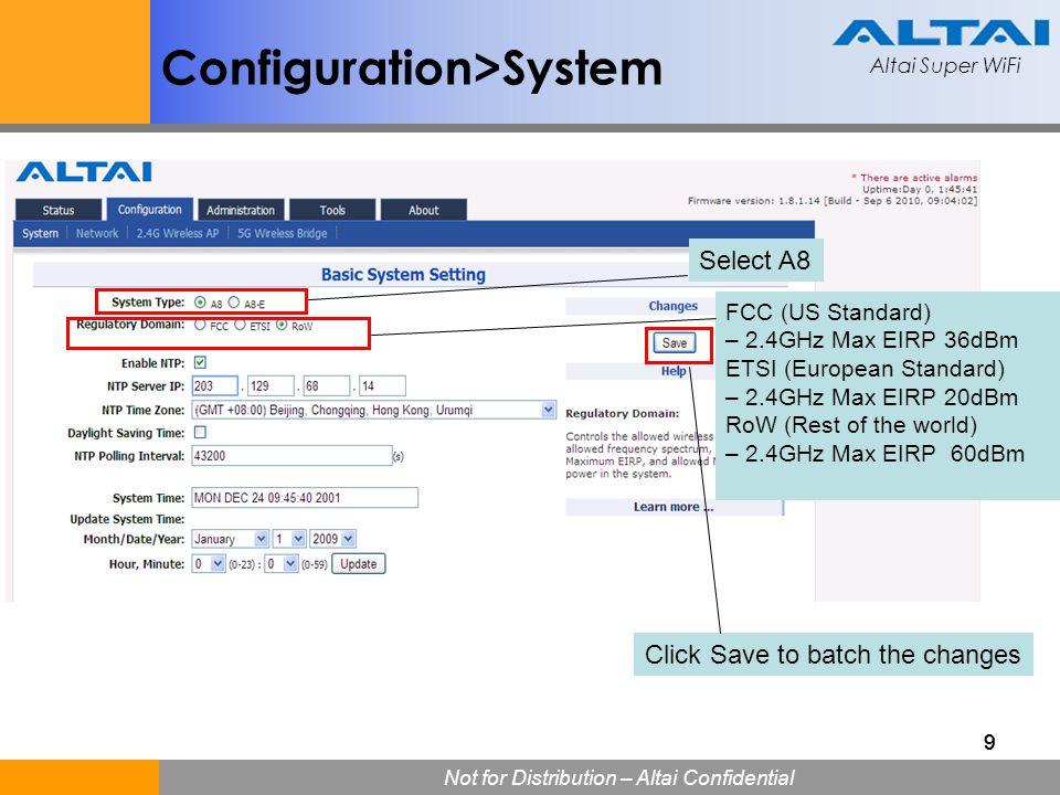 Configuration>System