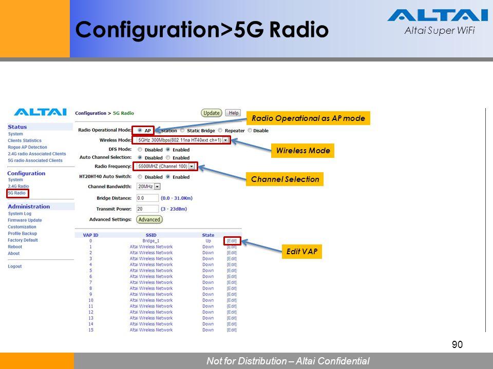 Configuration>5G Radio