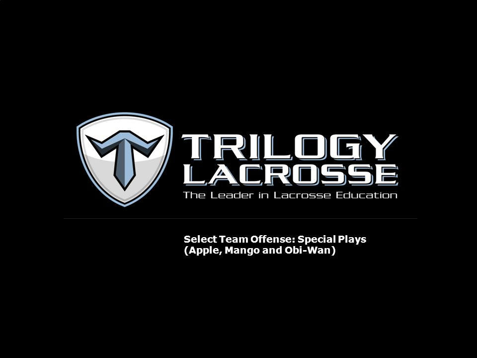 Select Team Offense: Special Plays (Apple, Mango and Obi-Wan)