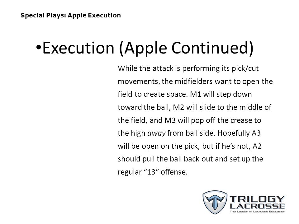 Execution (Apple Continued)