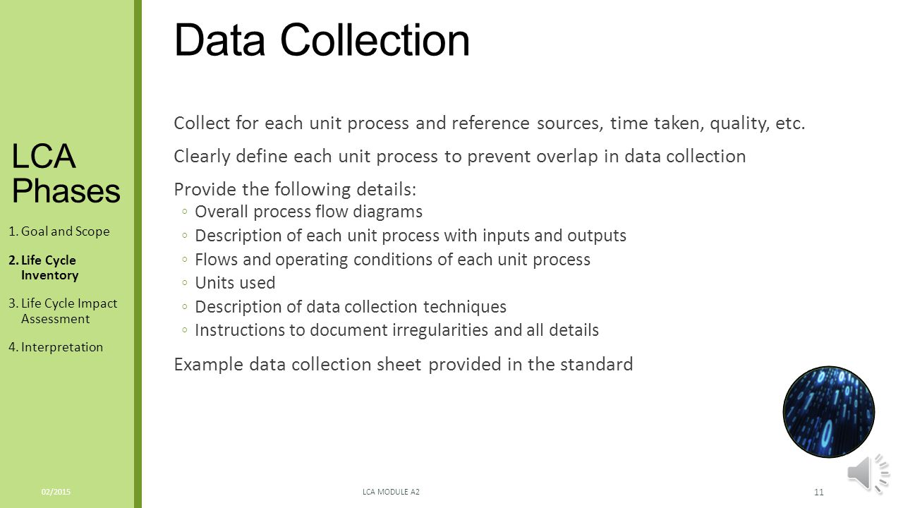 Data Collection LCA Phases