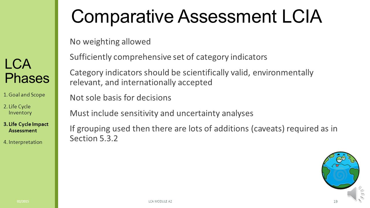 Comparative Assessment LCIA