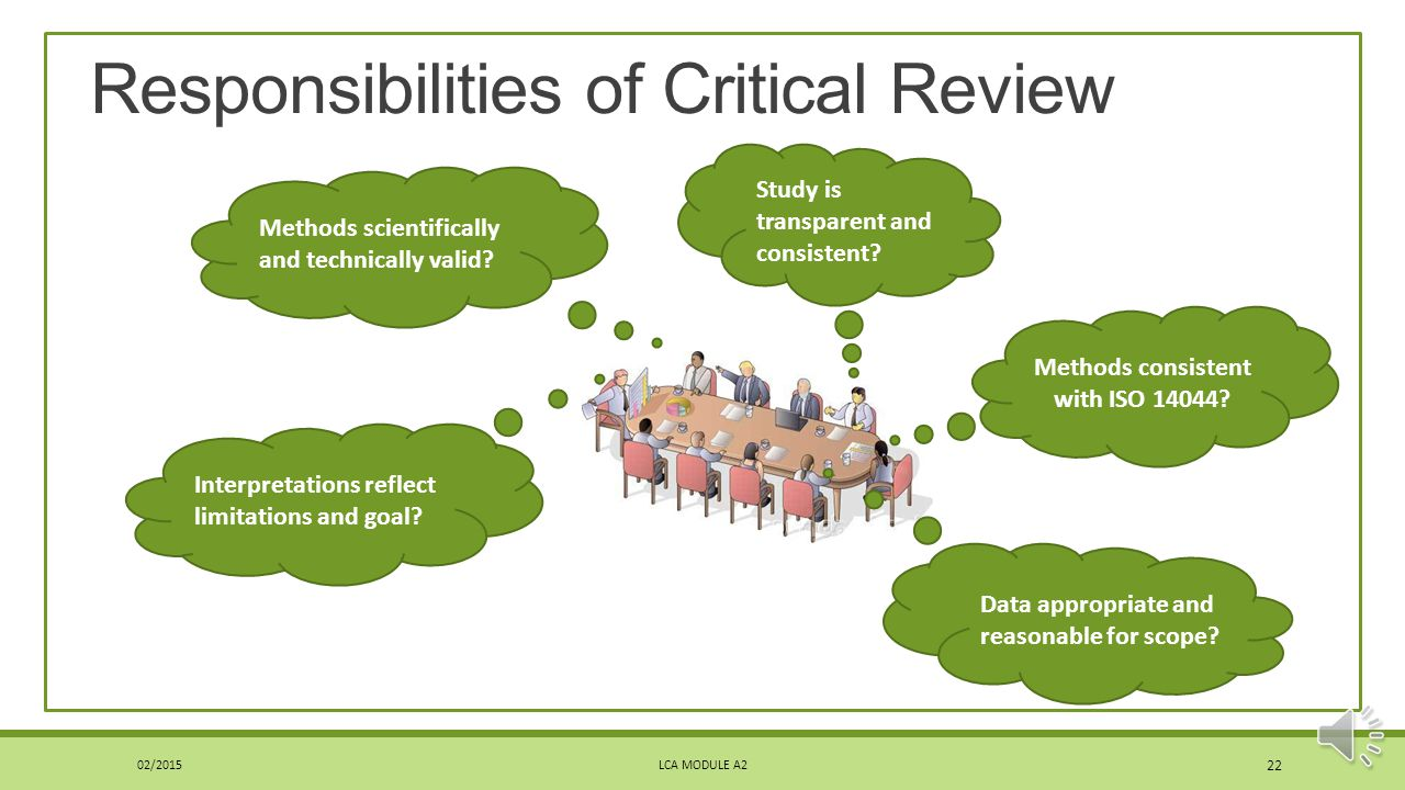Responsibilities of Critical Review