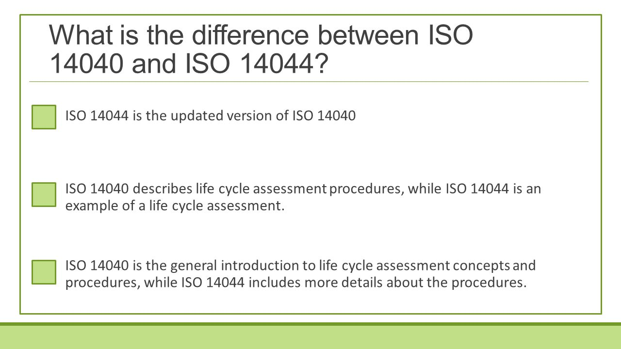 What is the difference between ISO 14040 and ISO 14044