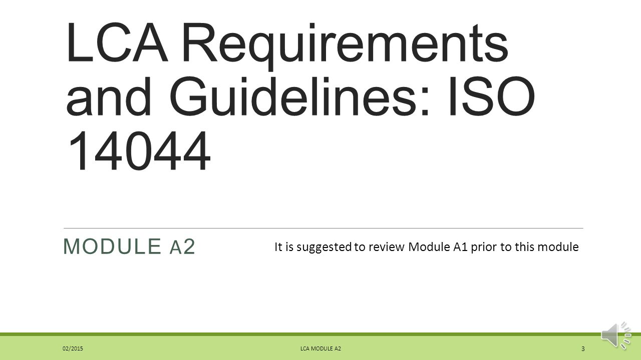 LCA Requirements and Guidelines: ISO 14044