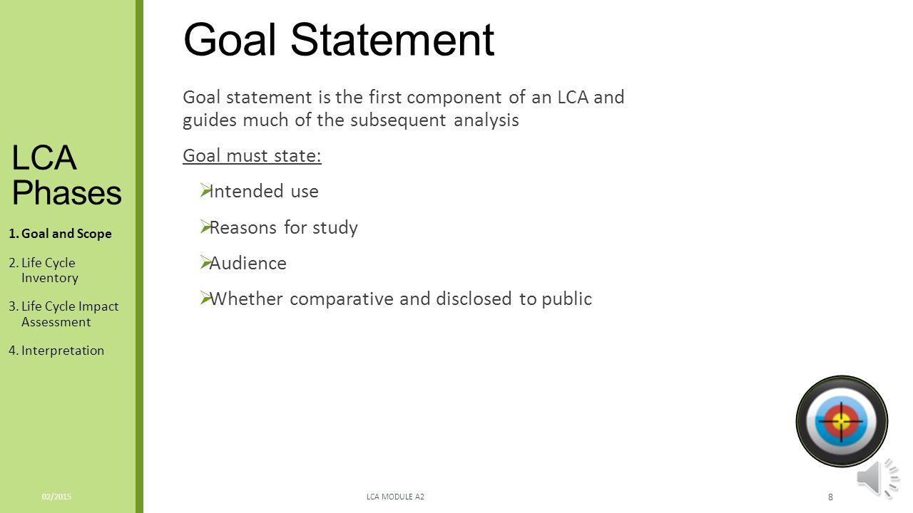 Goal Statement LCA Phases