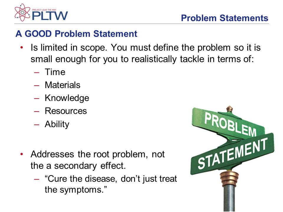 Essay statement of the problem