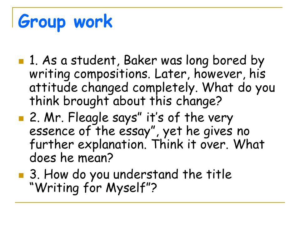 essay group work Reflective Essay – Group Work