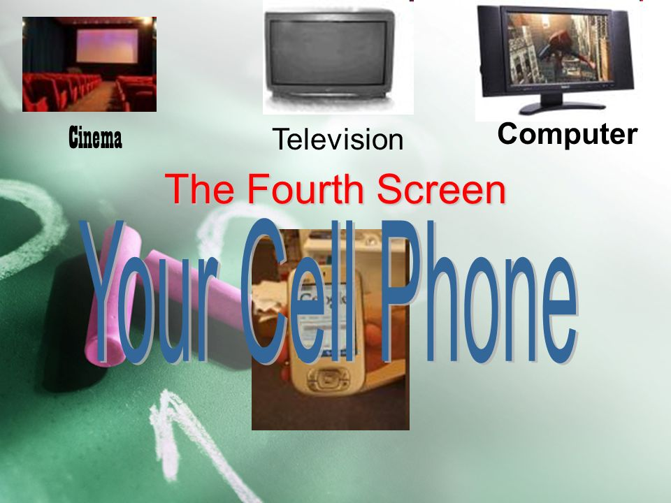 Cinema Computer Television The Fourth Screen Your Cell Phone