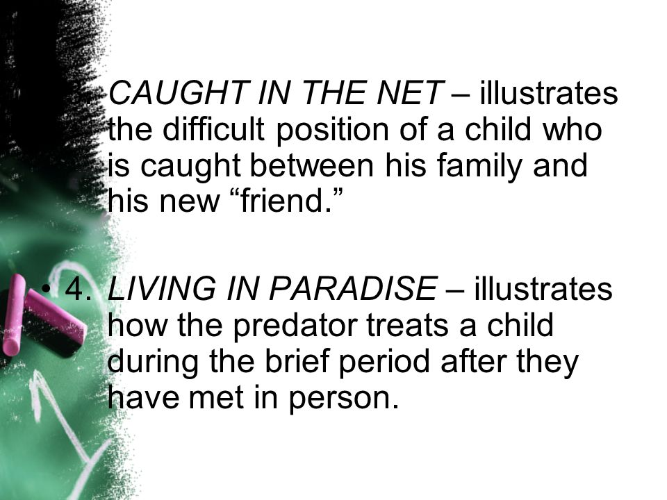 3. CAUGHT IN THE NET – illustrates