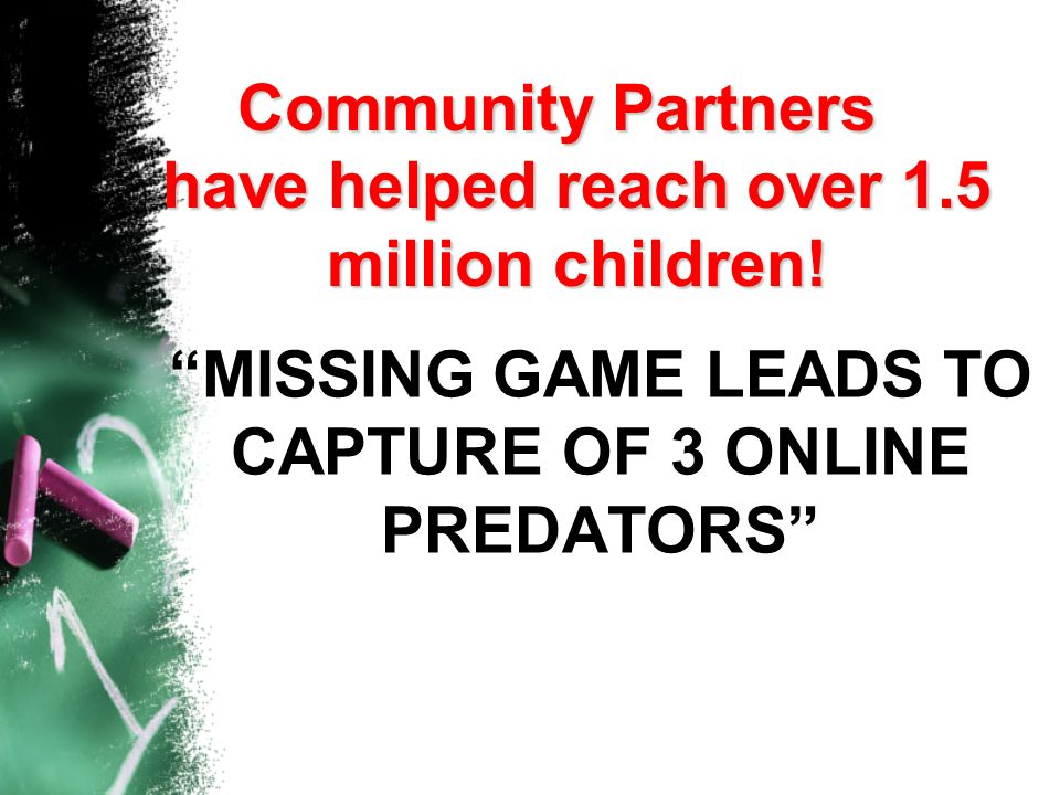 MISSING GAME LEADS TO CAPTURE OF 3 ONLINE PREDATORS