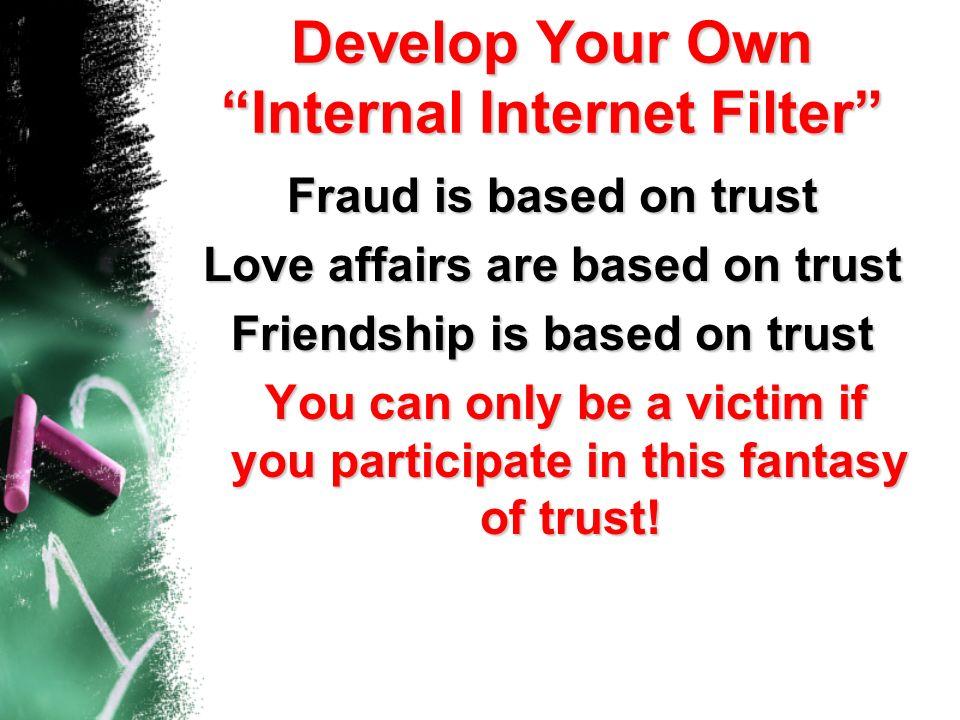 Develop Your Own Internal Internet Filter