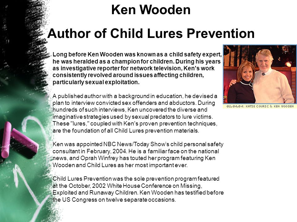 Author of Child Lures Prevention