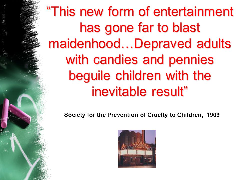 Society for the Prevention of Cruelty to Children, 1909