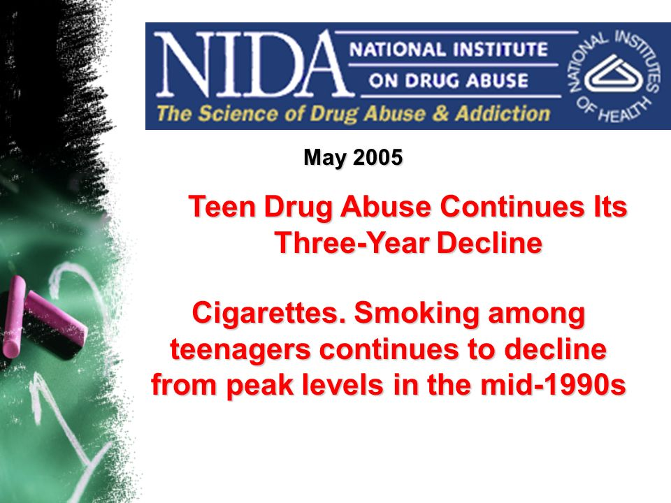 Teen Drug Abuse Continues Its Three-Year Decline