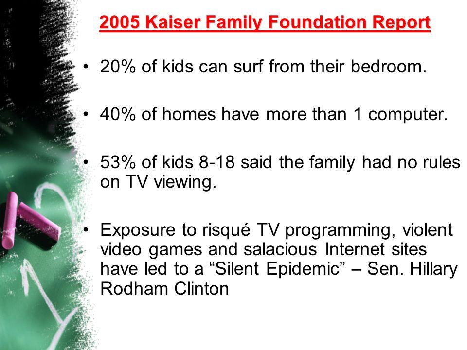 2005 Kaiser Family Foundation Report