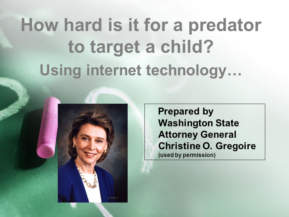How hard is it for a predator to target a child