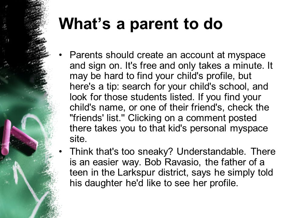 What's a parent to do