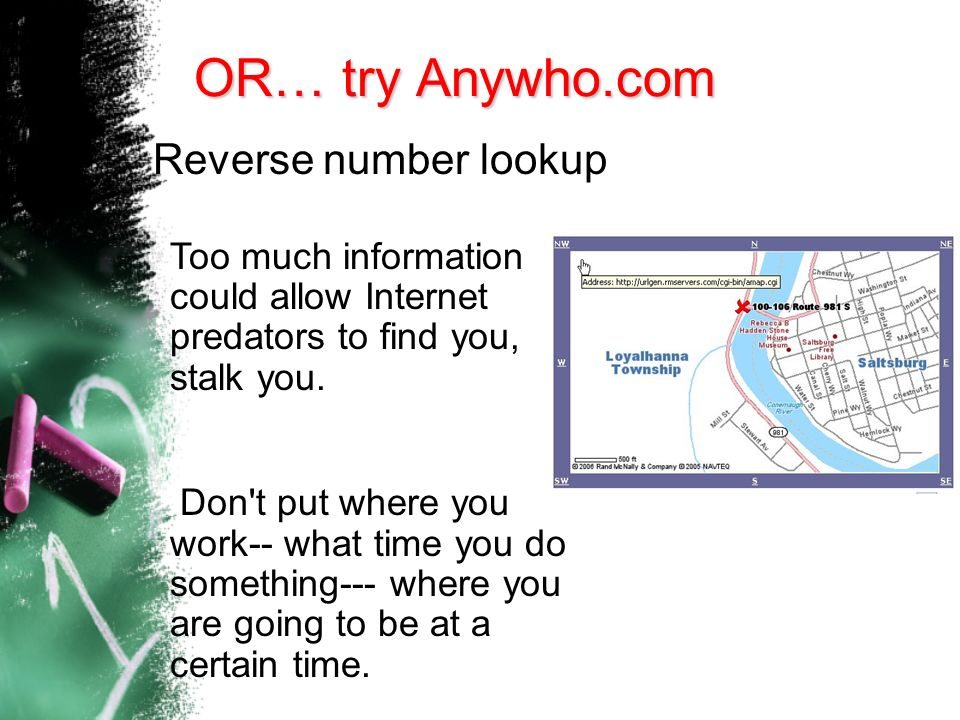 OR… try Anywho.com Reverse number lookup