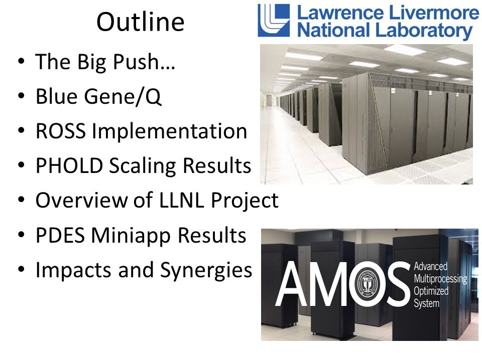 Outline The Big Push… Blue Gene/Q ROSS Implementation