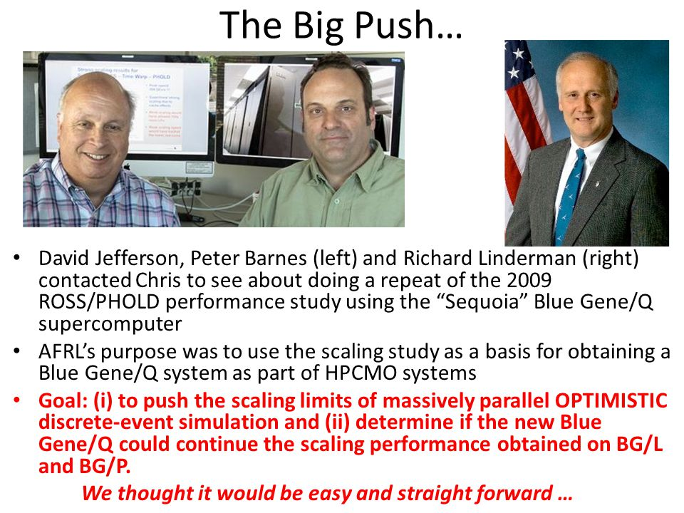 The Big Push…