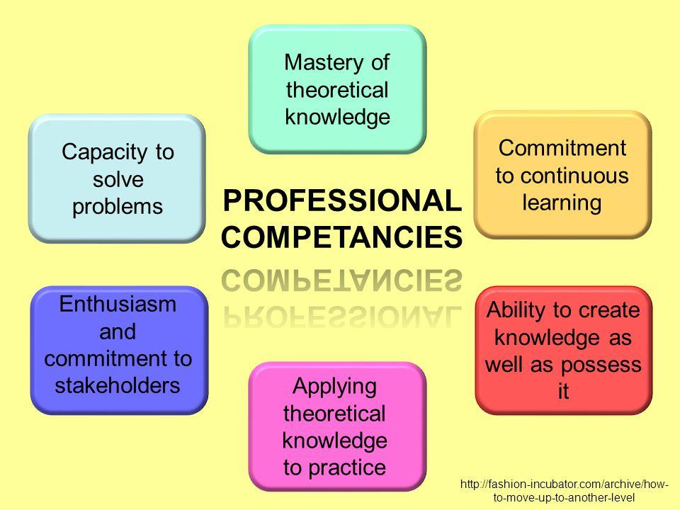 PROFESSIONAL COMPETANCIES