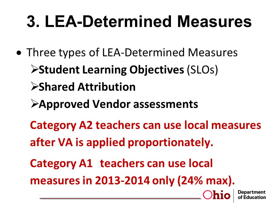 3. LEA-Determined Measures
