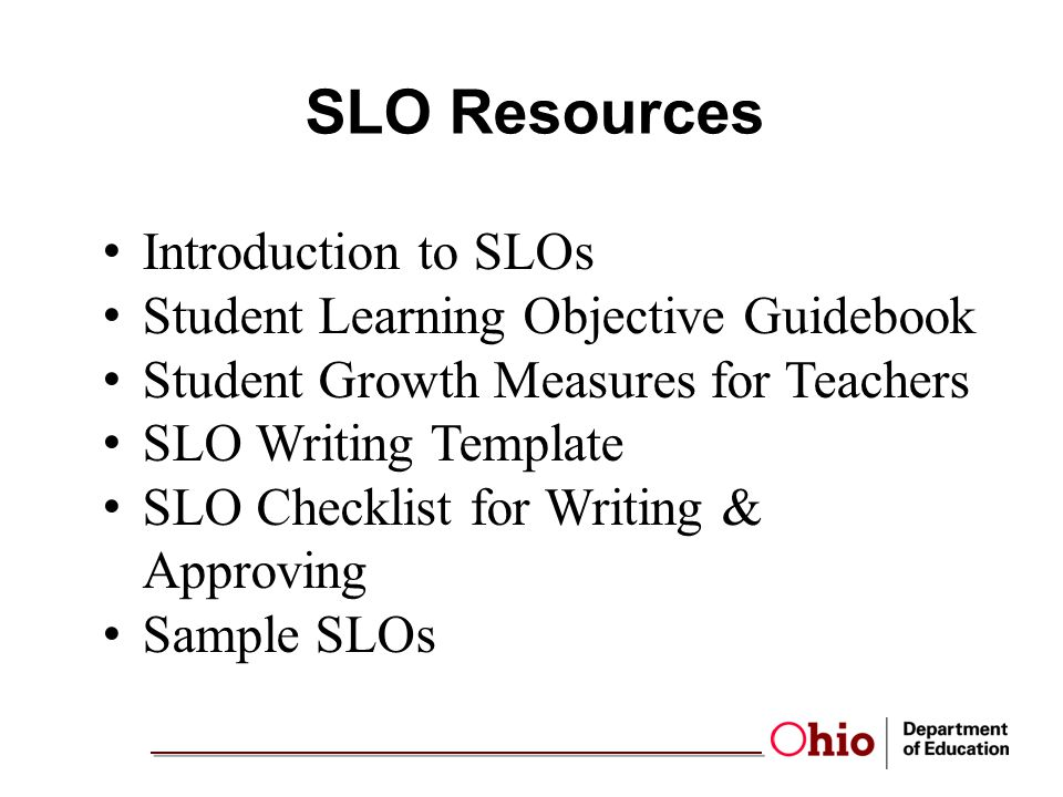 SLO Resources Introduction to SLOs