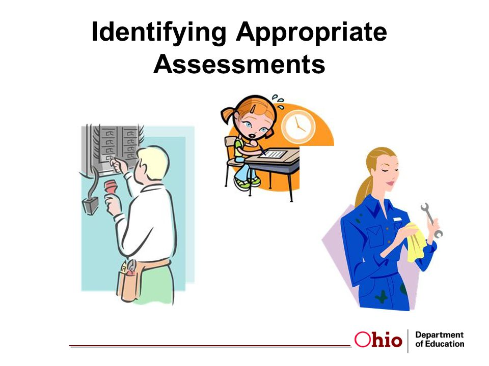 Identifying Appropriate Assessments