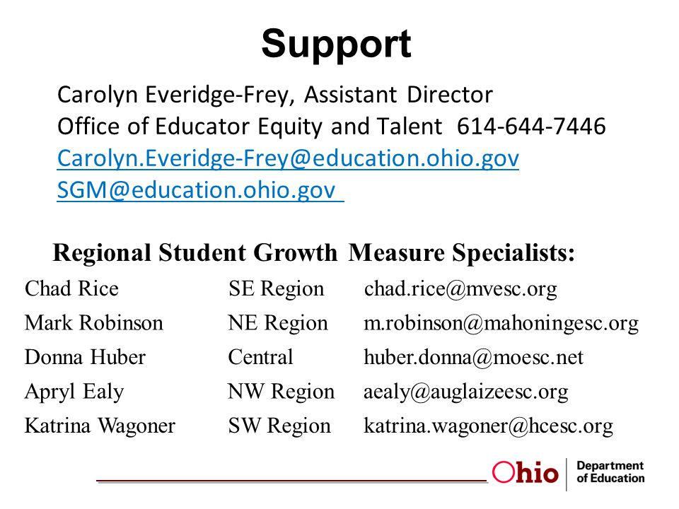 Regional Student Growth Measure Specialists: