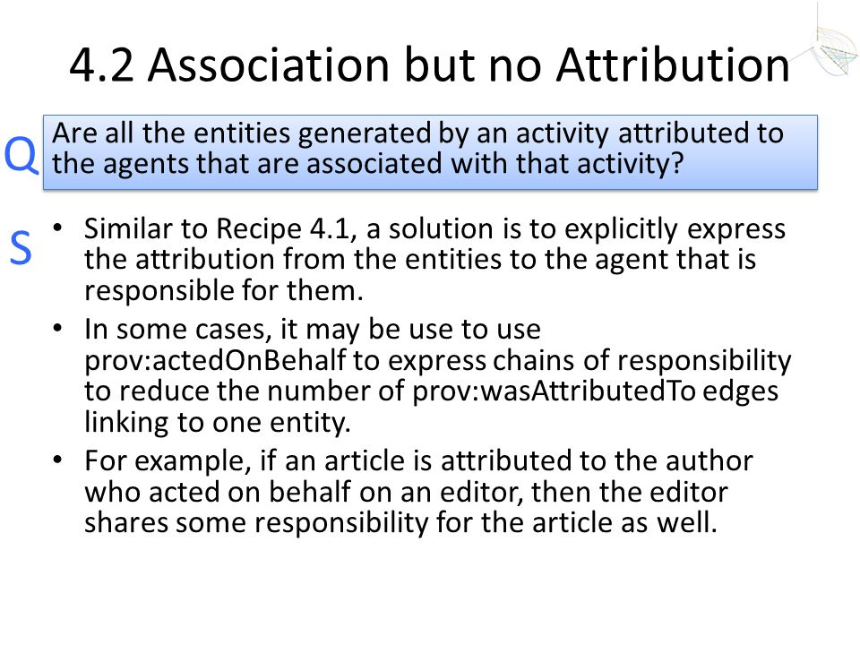 4.2 Association but no Attribution