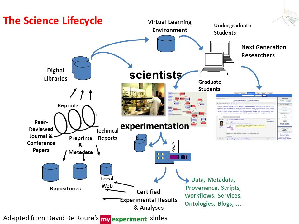 The Science Lifecycle scientists experimentation