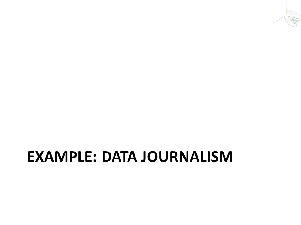 Example: Data JournaLISM