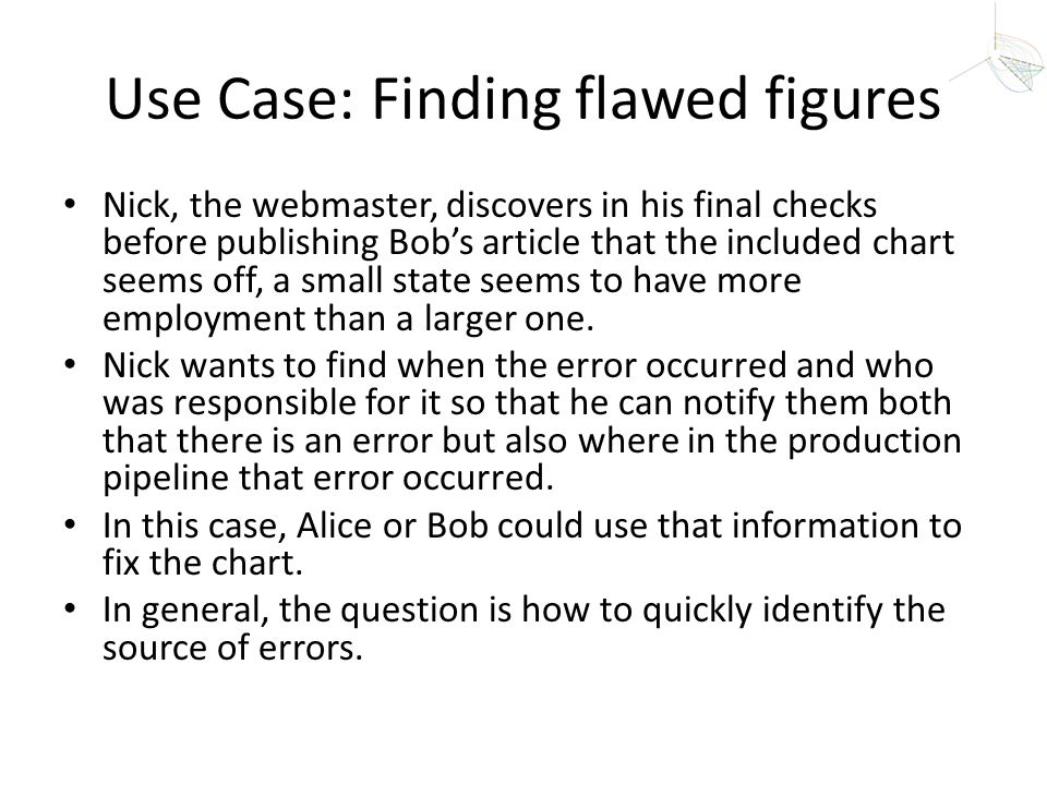 Use Case: Finding flawed figures