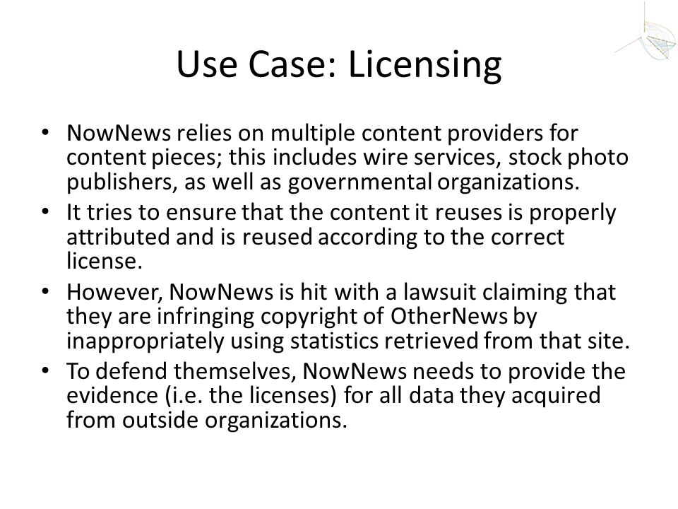 Use Case: Licensing