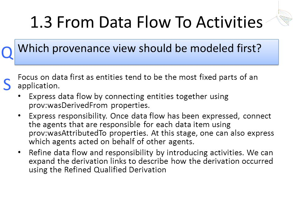 1.3 From Data Flow To Activities