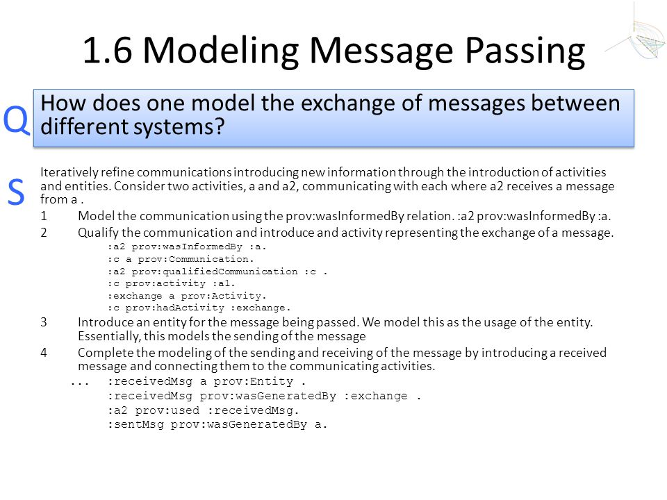 1.6 Modeling Message Passing