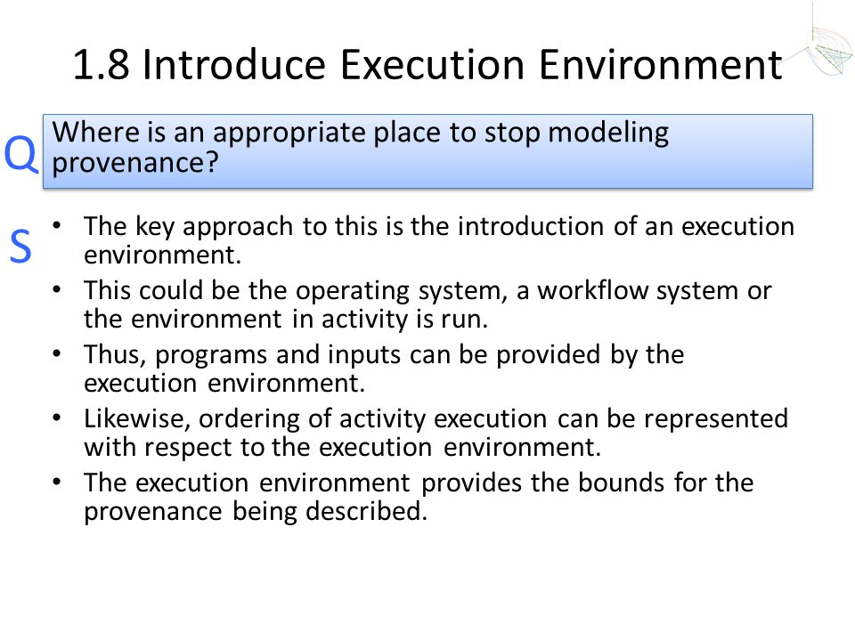 1.8 Introduce Execution Environment